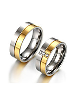 Paar Eheringe Kubikzirkonia Vintage Elegant Kubikzirkonia Titanstahl Runde Form Schmuck Für Hochzeit Party Verlobung Alltag Zeremonie