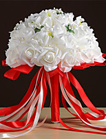 Wedding Flowers Bouquets Wedding Foam Satin 11.8