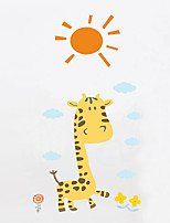 Wall Stickers Wall Decas Style Cartoon Giraffe PVC Wall Stickers