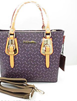 Women Shoulder Bag PVC All Seasons Casual Outdoor Square Zipper Ruby Purple