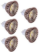 5W Spot LED MR16 1 COB 350 lm Blanc Chaud Blanc Froid Décorative DC 12 V 5 pièces