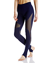 Women's Running Pants Fitness, Running & Yoga Moisture Wicking Tights for Yoga Running/Jogging Exercise & Fitness Terylene Mesh/Net Tight