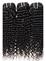 300g/3Pcs 12-26 Brazilian Virgin Hair Natural Black Deep Curly Raw Unprocessed Virgin Human Hair Weaves Bundles