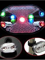 Велосипедные фары LED Велоспорт Широко распространенный Водонепроницаемый Экологию Люмен Батарея Мультиколор Повседневное использование