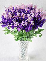 10 Head Lavender Fake Flower Simulation Flower Silk Flower Home Decoration Flower Provence Lavender 10 Branch/Set