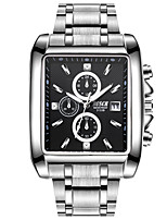 Men's Sport Watch Dress Watch Fashion Watch Quartz Stainless Steel Band Casual Silver