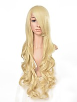 80cm Women's Long Wavy Blonde Synthetic Hair Wig Cosplay wigs