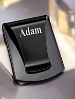 Gift Groomsman Multifunction Stainless Steal Black Money Clip With Bottle-opener
