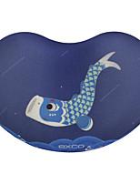 Exco msp020 pano de fundo anti-derrapante da mosca da baleia pode ser lavado pulso da almofada do mouse 10.5 * 7 * 2cm