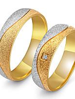 Couple Couple de Bagues Zircon cubique Vintage Elegant Zircon Acier au titane Forme Ronde Bijoux PourMariage Soirée Fiançailles Quotidien