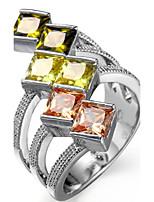 Damen Herrn Ringformen Bandringe Ring Kubikzirkonia StrassBasis Einzigartiges Design Strass Geometrisch Langlebig Elegant Sexy Modisch