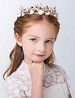 Girl's Seashells Headband Rhinestone Faux Pearl Beading Crown Hair Accessory