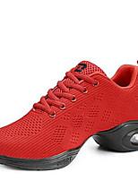 Women's Dance Shoes Tulle Tulle Dance Sneakers / Modern Sneakers Low Heel Outdoor Black/Red