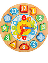Building Blocks Pegged Puzzles For Gift  Building Blocks Clock 1-3 years old 3-6 years old Toys
