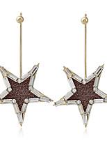 Жен. Серьги-слезки Стразы Уникальный дизайн В форме звезды Бижутерия Назначение На каждый день Для сцены