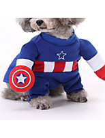 Cat Costume Dog Clothes Cosplay Cartoon Random Color Blue Ruby Yellow