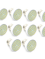 10pcs 60LEDs SMD2835 3.5W LED Spotlight GU10/MR16(GU5.3)/E27 300lm Warm White Cool White Decorative LED Lamps Home Lighting AC220-240V