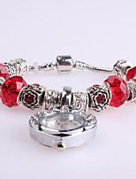 Femme Bracelet de Montre Numérique Métallique Bande Rouge