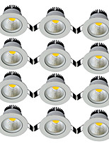 12pcs/lot Round Recessed LED Downlight AC 85-265V COB LED Spot Lamp 5W Angle Adjustable Ceiling Downlight for Home/Office