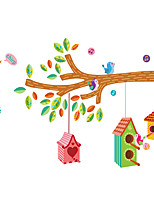 Wall Stickers Wall Decas Style Tree Branch Cage PVC Wall Stickers