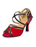 Women's Latin Synthetic Microfiber PU Heels Indoor Stiletto Heel Ruby 2