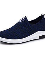 Men's Sneakers Light Soles Spring Fall Knit Walking Shoes Casual Outdoor Flat Heel Black Dark Blue Blue Flat