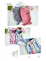 Dog Hoodie Dog Clothes Casual/Daily Stripe Red Blue Blushing Pink