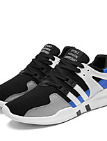 Men's Sneakers Comfort Light Soles Spring Fall Fabric Casual Outdoor Flat Heel White Black Black/White Black/Blue Flat