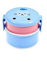 540ml MINI Box Cute Cartoon Animals Double Layer Round Lunch Box