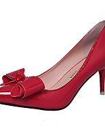 Damen High Heels Pumps Lackleder PU Sommer Hochzeit Normal Kleid Party & Festivität Walking Pumps StöckelabsatzSchwarz Grau Rot Rosa