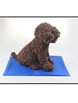 Собака Кровати Животные Коврики и подушки Однотонный Компактность Мягкий Синий