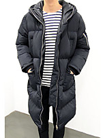 Men's Padded Coat,Simple Casual Solid-Polyester Polypropylene Long Sleeve