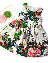 Girl's Floral Dress,Rayon Summer Sleeveless