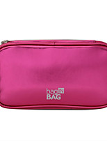Women Cosmetic Bag PU All Seasons Casual Baguette Zipper Fuchsia Purple Champagne Blue