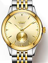 Herrn Modeuhr Mechanische Uhr Automatikaufzug Wasserdicht Legierung Band Silber Gold