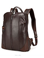 Men Backpack Polyester All Seasons Casual Round Zipper Black Brown
