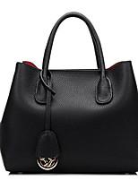 Women Shoulder Bag Cowhide All Seasons Casual Outdoor Round Zipper Ruby Gray Black