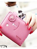 Women Money Clip PU All Seasons Casual Square Snap Blushing Pink Fuchsia Black