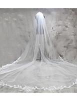 Voiles de Mariée Une couche Voiles cathédrale Bord en dentelle Dentelle Tulle