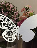 50pcs/lots Lovely Butterfly Place Escort Wine Glass Cup Paper Wedding Decoration Bar Party Dcoration Supplies