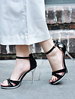 Femme Chaussures à Talons A Bride Arrière Polyuréthane Printemps Décontracté A Bride Arrière Blanc Noir Amande 7,5 à 9,5 cm