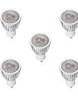 3W Spot LED MR16 3 LED Haute Puissance 260-300 lm Blanc Chaud Blanc Intensité Réglable AC 100-240 V 5 pièces