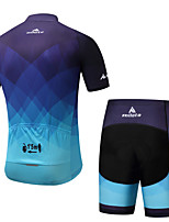 Cycling Jersey with Shorts Men's Male Short Sleeve Bike Padded Shorts/Chamois Cycling Spandex Spring/Fall Summer Cycling/Bike