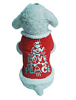 Perro Chaleco Ropa para Perro Navidad Letra y Número Rojo