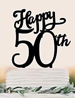 Custom English letter acrylic wedding cake decorated with cake decorating birthday cake