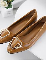 Для женщин Мокасины и Свитер Удобная обувь Полиуретан Весна Повседневные Удобная обувь Черный Коричневый На плоской подошве
