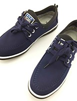 Men's Sneakers Comfort Spring Fall Fabric Casual Outdoor Lace-up Flat Heel Black Blue Under 1in