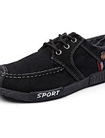 Для мужчин Кеды Удобная обувь Полиуретан Весна Осень Серый Синий На плоской подошве