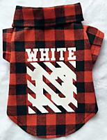 Dog Coat Dog Clothes Casual/Daily Plaid/Check Blue Ruby