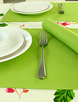 Modern Simple Heat Insulation Green Cotton And Linen Table Placemat 32*45cm Single-sided